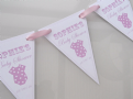 Baby Shower Pink Personalised Paper bunting